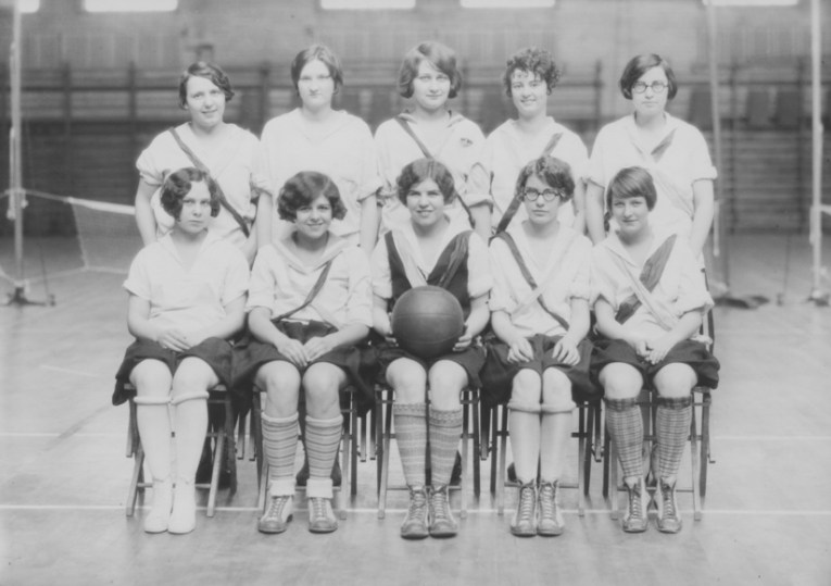 1927, women's intramural basketball team. KSU Libraries, Special Collections and Archives.