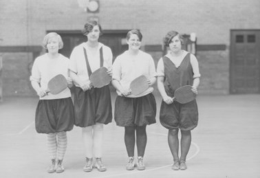 1928, paddle tennis intramural team. KSU Libraries, Special Collections and Archives.