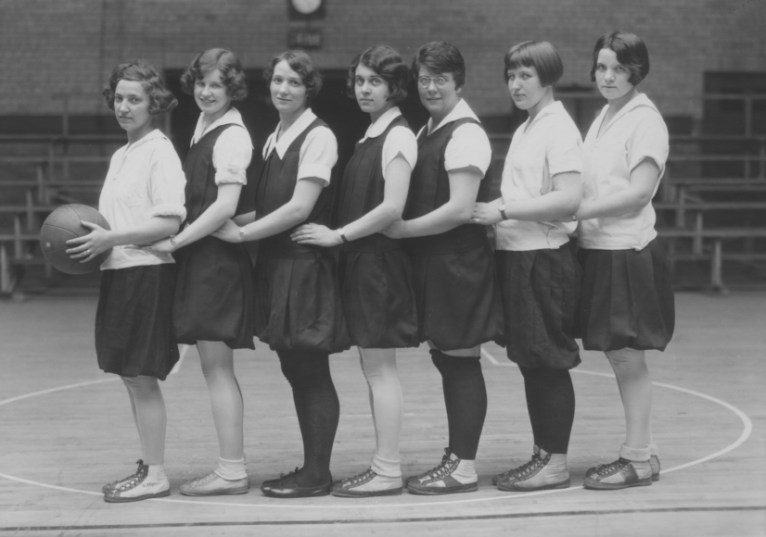 1929, women's basketball. KSU Libraries, Special Collections and Archives.