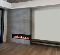 Flare Right Corner Modern Fireplace | Linear Fireplace ...