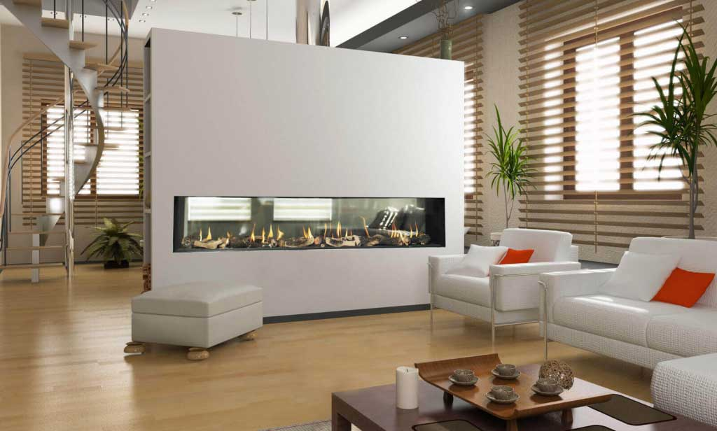 Flare See Through Modern Fireplaces  Linear Fireplaces  Flare Fireplaces