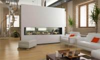 Flare See Through Modern Fireplaces | Linear Fireplaces ...