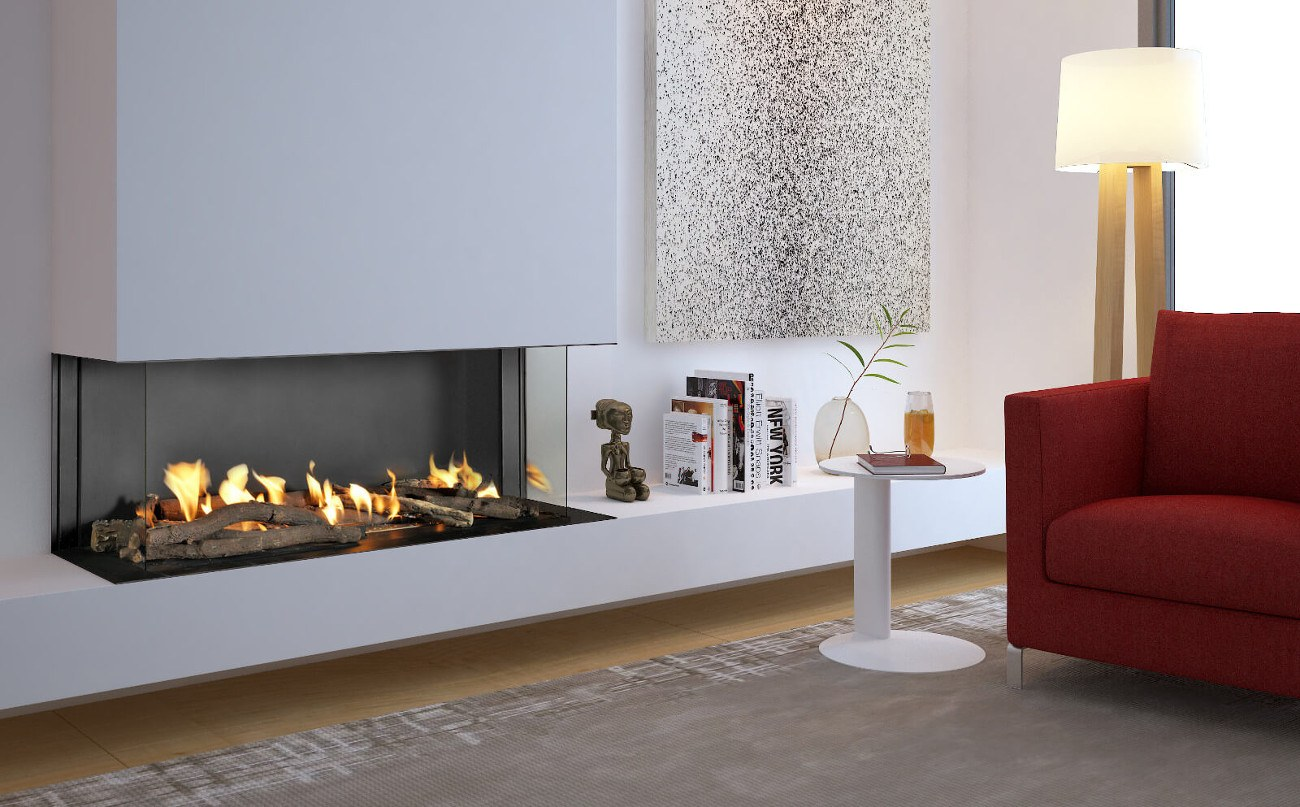 Flare Double Corner Fireplaces