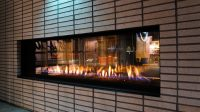 See Through Linear Outdoor Modern Fireplaces | Flare ...
