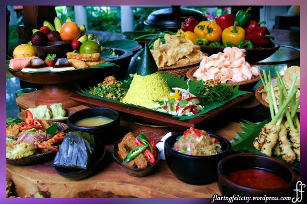 Indonesia's Balinese cuisine has Indian, Chinese and Indonesian influence. Rice is a staple mixed with vegetables, meat and seafood.