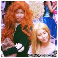 Disney Princesses Merida and Rapunzel. There were many other princesses at Fantasy Quest 3. Photos in batch 2!