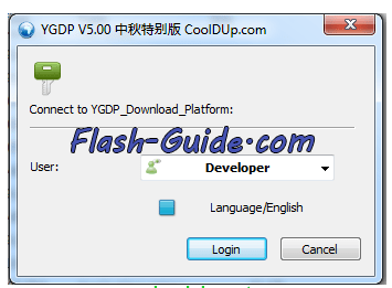 YGDP Flashing Tool is launched - CoolPad Note 5 Lite