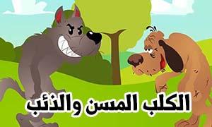 قصة الكلب المسن والذئب