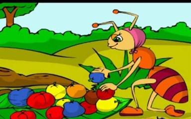 النملة الكريمة والنملة البخيلة
