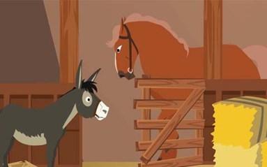 الحمار والحصان المخادع