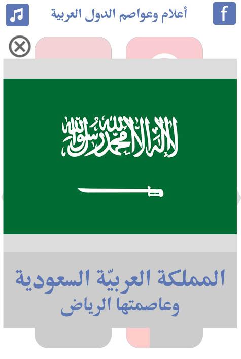 أعلام-وعواصم-الدول-العربية-السعودية