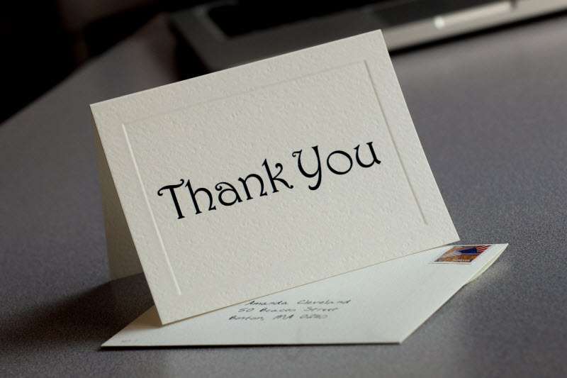 business thank you cards wording
