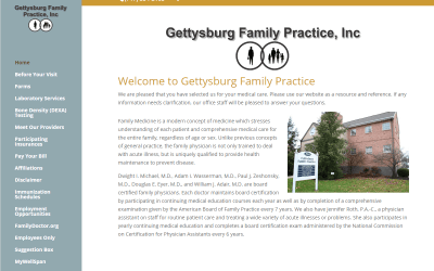 Flash Avenue rebuilds Gettysburg Family Practice website to be mobile-friendly