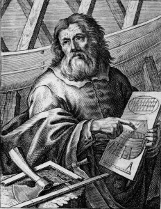 Engraving of Noah by P. Troschel, 1659.