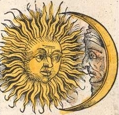 Sun and Moon from the Nuremberg Chronicle
