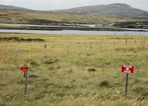 Minefield at Port William, Falkland Islands