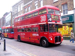 Doubledecker bus photograph by John Ward.