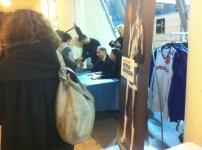 Hervé Dubuisson lors de la séance de dédicace de son livre (c) Basket Retro - RS