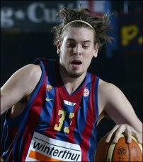 Marc Gasol en 2006 avec le FC Barcelone (c) Euroleague Basketball, S.L