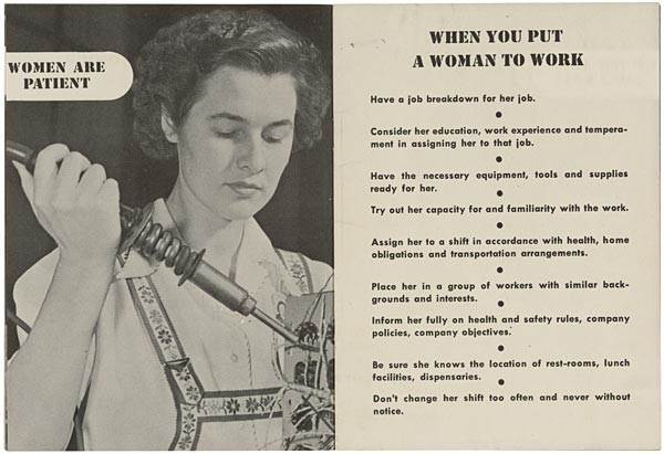 When You Supervise A Woman How To Train A Woman A 1940s