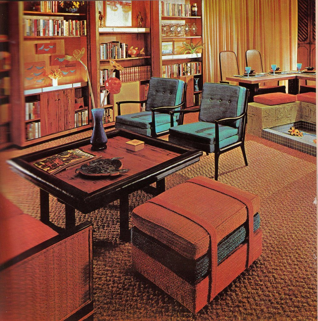 end table ideas living room designs modern 2017 groovy interiors: 1965 and 1974 home décor - flashbak