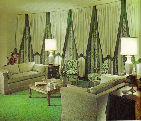 house interior decoration living room Groovy Interiors: 1965 and 1974 Home Décor