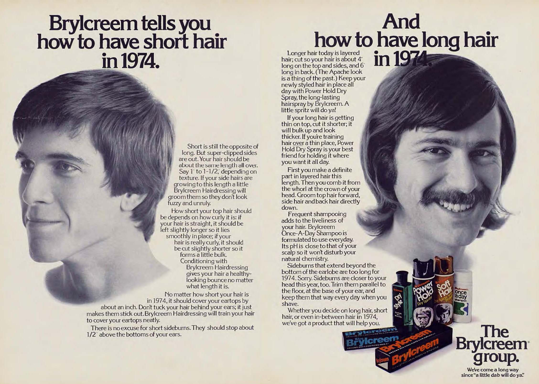 Vintage Hair Adverts 1960s70s Products Styles and