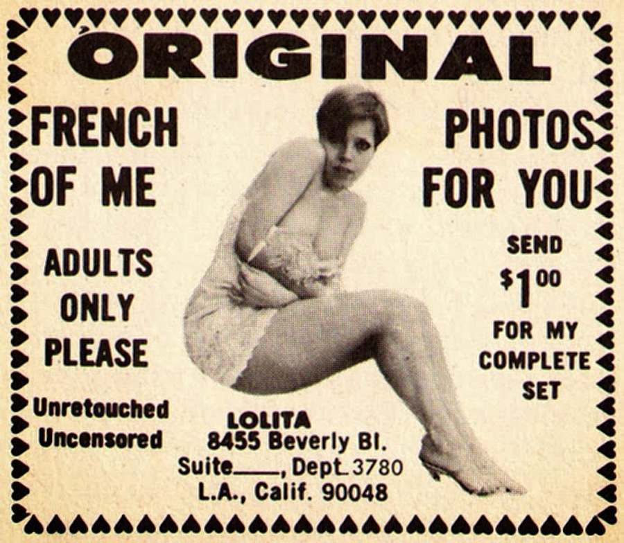 Vintage adverts for mail order adult entertainment