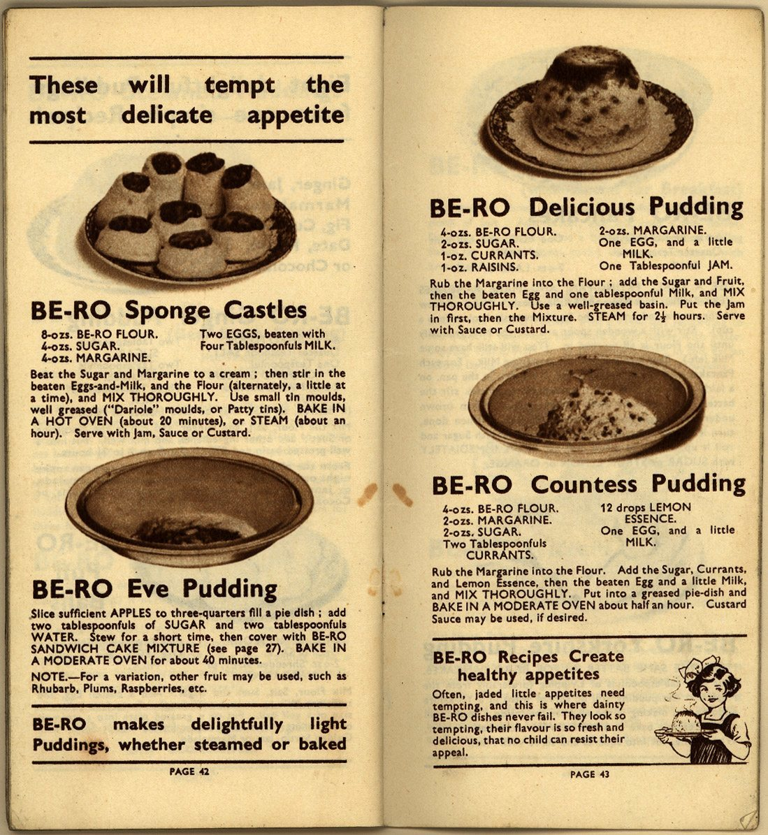 Be-Ro Home Recipes: Scones, Cakes, Pastry, Puddings - A 1923 Cookbook Primer - Flashbak