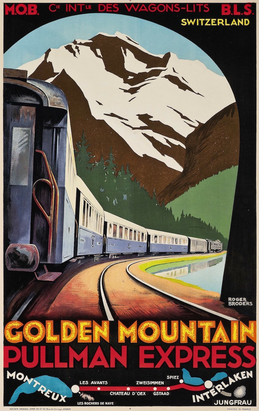 15 Beautiful French Art Deco Travel Posters By Roger Broders