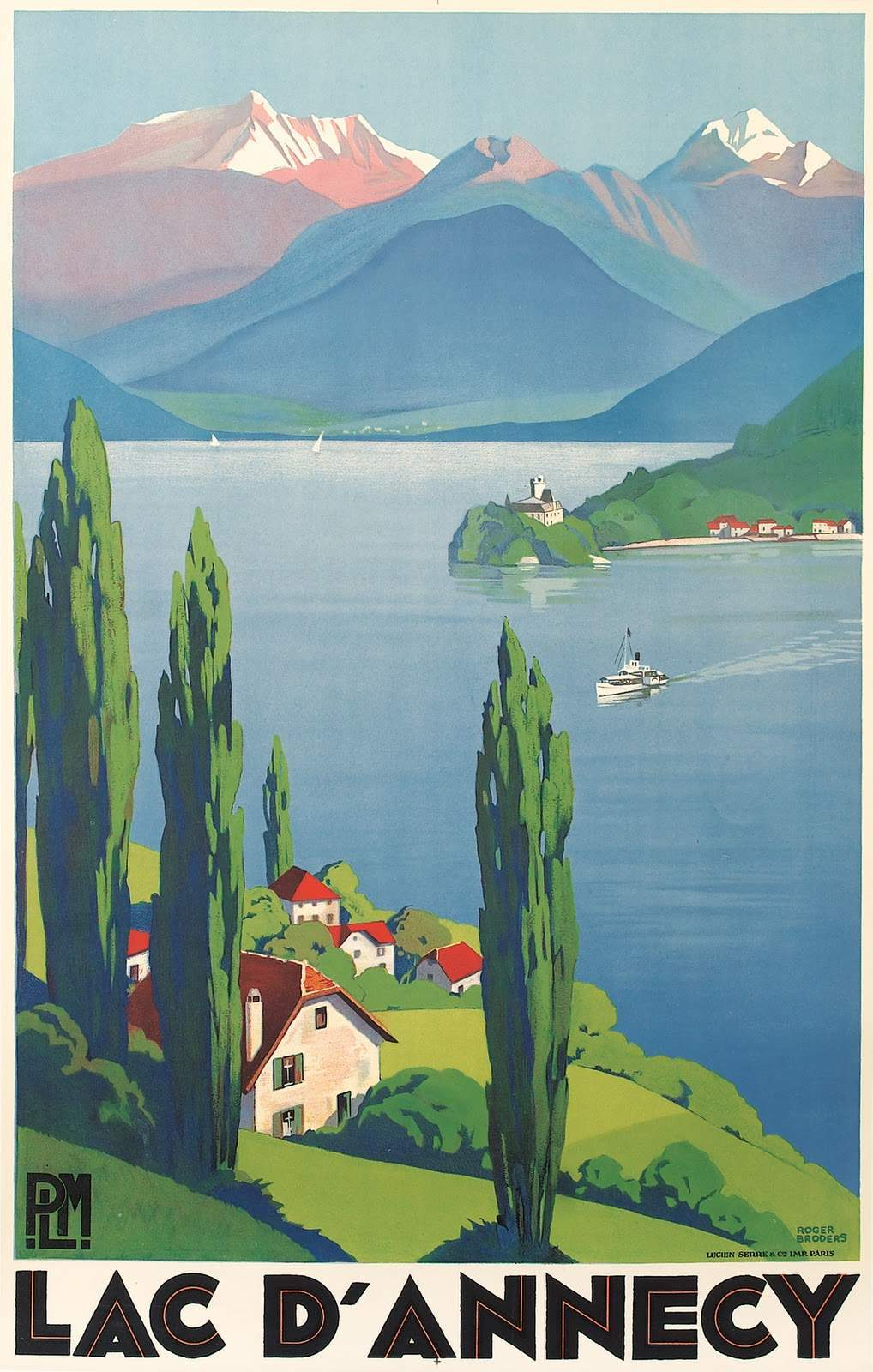 15 Beautiful French ArtDeco Travel Posters by Roger Broders