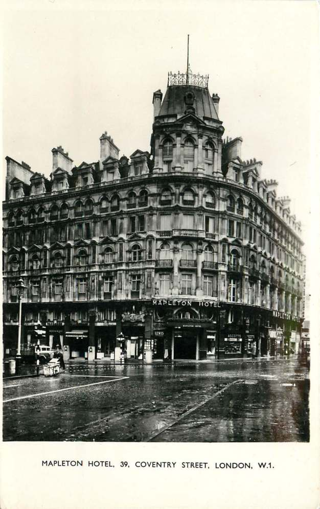 Mapleton Hotel Coventry Street Leicester Square Club Americana