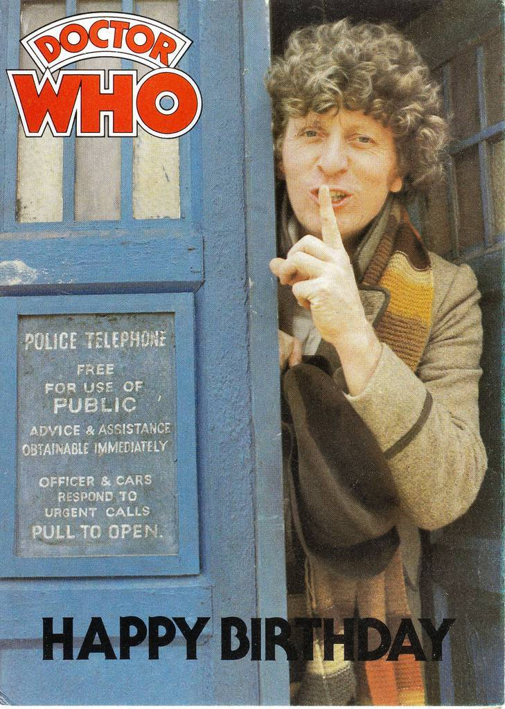 Tom Baker Dr Who Merchandise Greetings Cards Great Underpants A Weird Action Doll And A Spanx