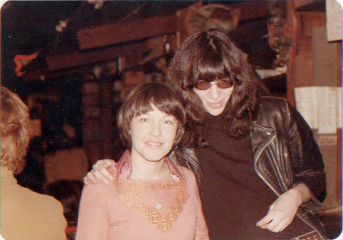 """""""Joey Ramone was really a sweetie pie. At one point we had an exhibit of our photographs, and we made a whole board of pictures of Joey Ramone and me, which we'd sell for $1. Joey came and signed a whole bunch of those photos."""""""