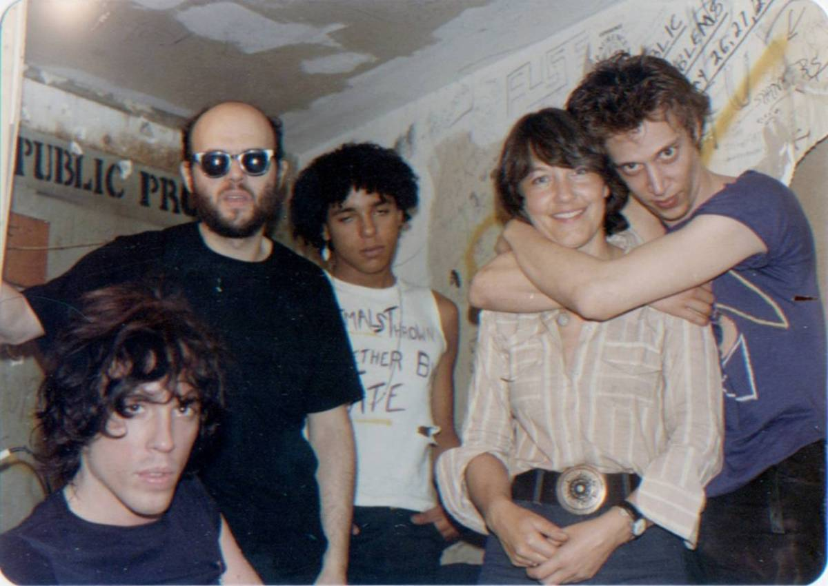 """""""Richard Hell still lives in the neighbourhood here. He was the frontman and the singer, and the others were the musicians. This is often what you see with these groups: he was a very jovial guy, the other two were kind of going along with the photo, standing there sheepishly. Group dynamics are fascinating."""" All photographs: Marc H Miller And Bettie Ringma, courtesy Of 98 Bowery"""