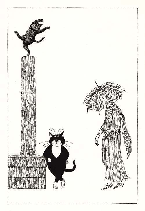 Edward Gorey's Illustrations For T S Eliot's Cats (1982