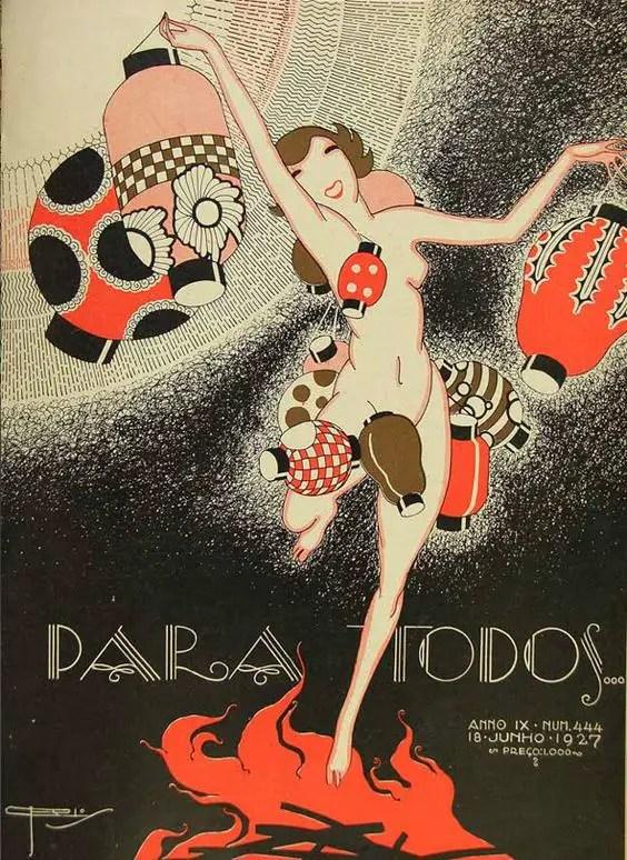 Para Todos Covers Brazils Gorgeous 1920s Art Deco Style Magazine