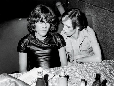 David Johansen and David Bowie at Max's Kansas City, New York City, 1974.