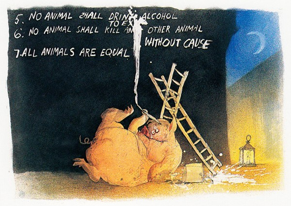 Ralph Steadman's Illustrations For George Orwell's Animal