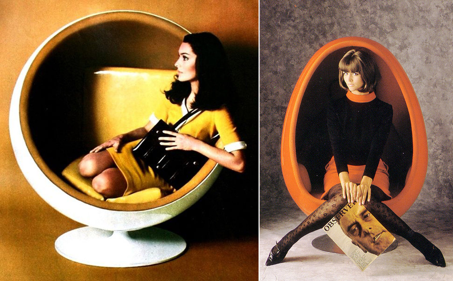 Men In Black Egg Chair The Amazing Ball And Egg Chairs Of The 1960s 1970s Flashbak