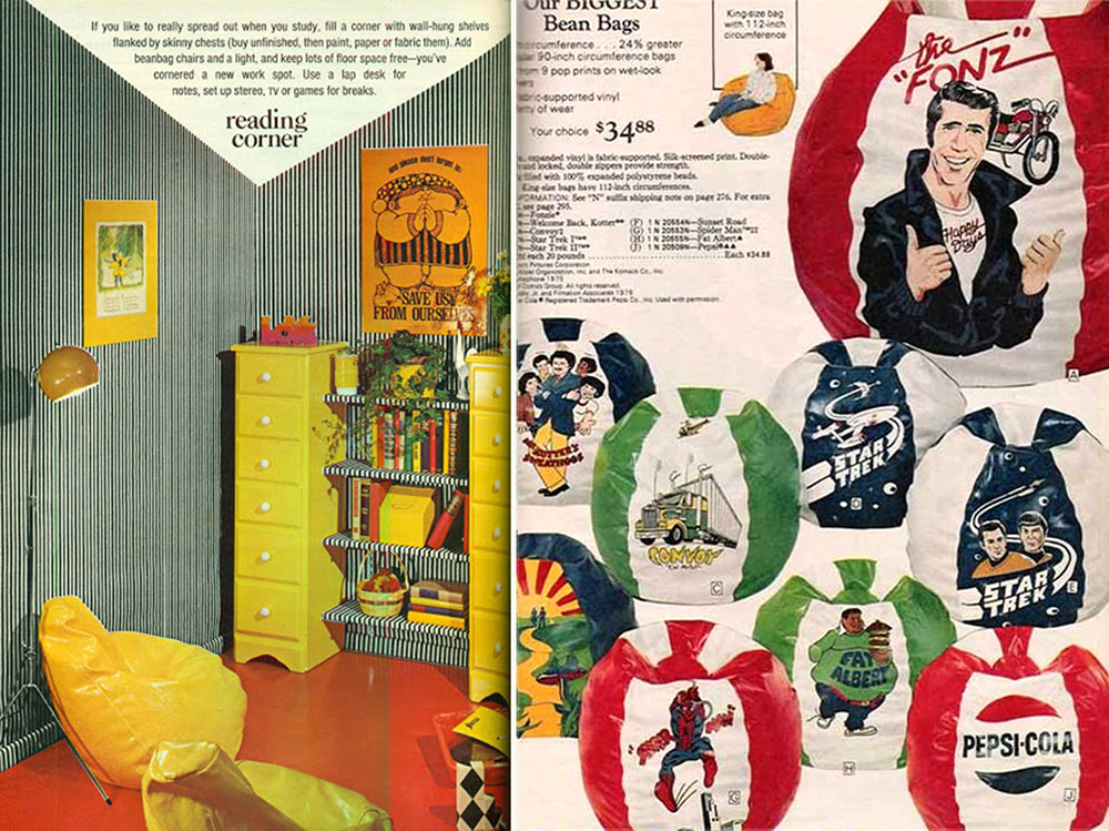 bean bag chairs mission style morris chair the chair: comfy sacks of seventies - flashbak