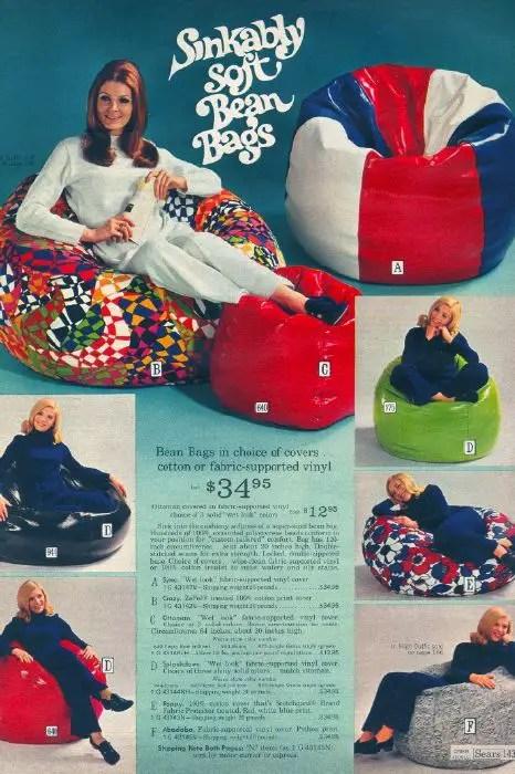The Bean Bag Chair Comfy Sacks of the Seventies  Flashbak
