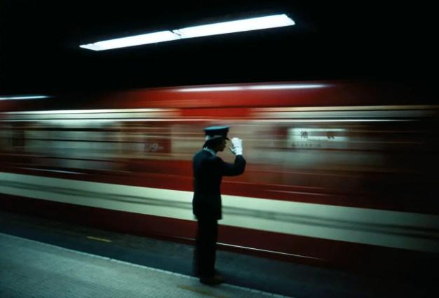 Tokyo Japan Platform_Conductor_Ikebukuro_1976