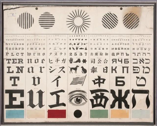 George Mayerle's Eye Test charts, Schmidt Litho Co., San Francisco , ca. 1907