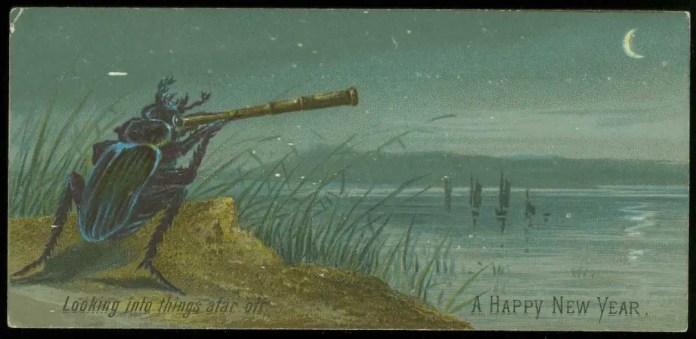 Викторианская новогодняя открытка (через библиотеку Болтона)