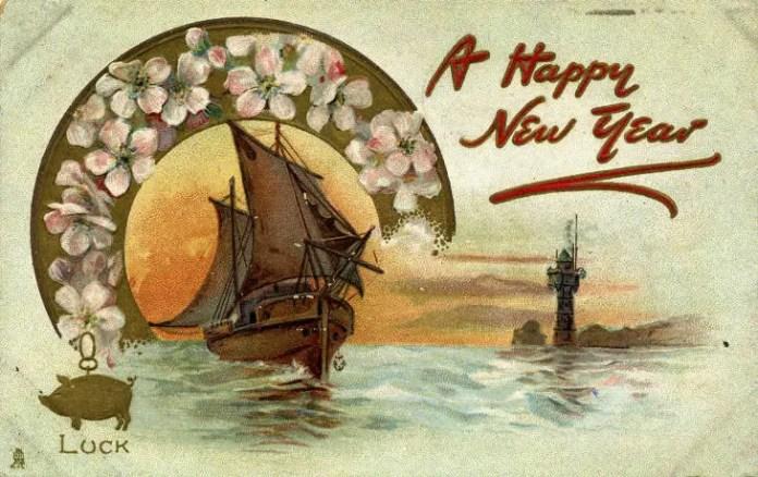 старинные новогодние открытки