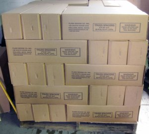 Flash Bridge Truss Spacers are packed 20 per carton, & 60 cartons per skid.