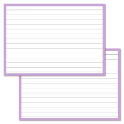 A6 flashcards (10,5 X 15 CM)