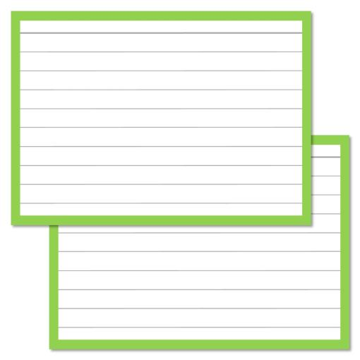 Leitner Flashcards Light Green A7