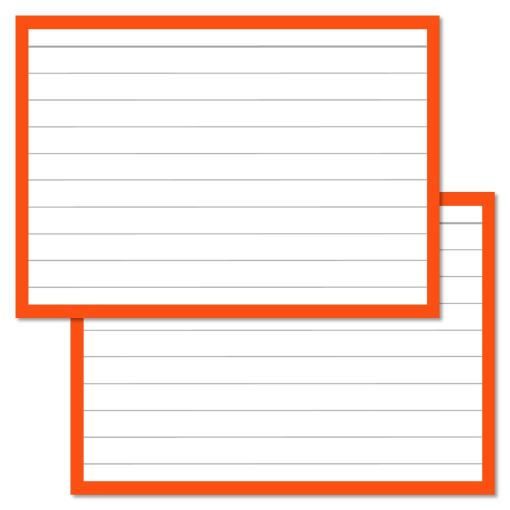 Orange Leitner Flashcards A7